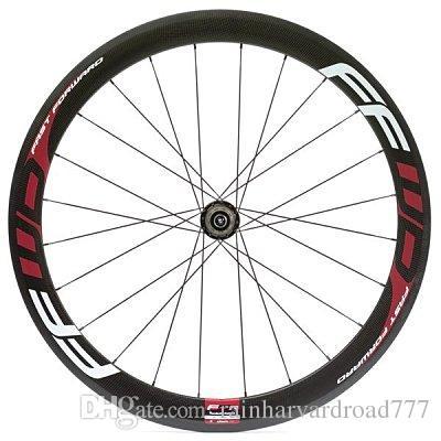 Vermelho branco FFWD F6R 50mm rodas de bicicleta ClincherTubular VShape 3k brilhante FFWD F6R fast forward 700c de fibra de carbono rodado bicicleta rodado