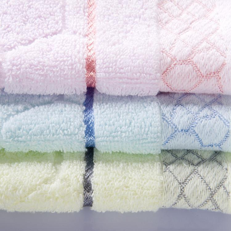 10pcs square towel water cube hand towels facecloth cotton 33*33cm hand towel dry quickly beauty universal pink blue geometric