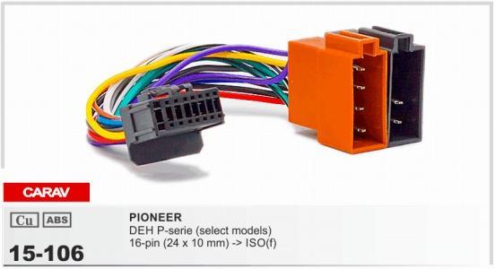 CARAV15-106 أعلى جودة السيارة ISO تسخير لبيونير DEH P- سلسلة (حدد نماذج كابل راديو ستيريو محول سلك موصل الأسلاك