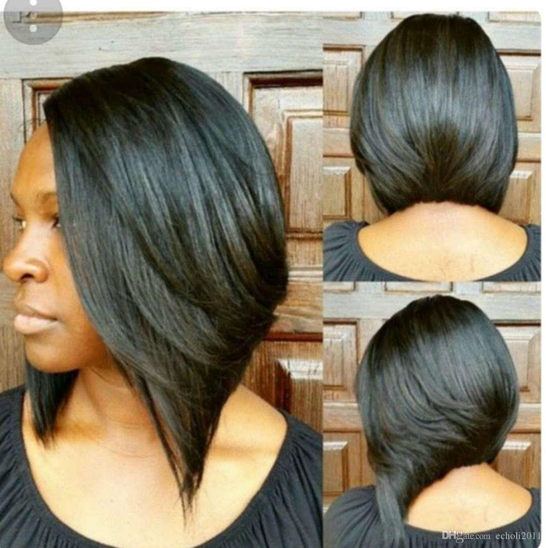 African Short Layered Bob Human Hair Lace
