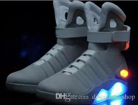 official photos d8d1c 17723 ... Air Mag Sneakers Marty McFly s LED Shoes Back To The Future Glow In The  Dark Gray