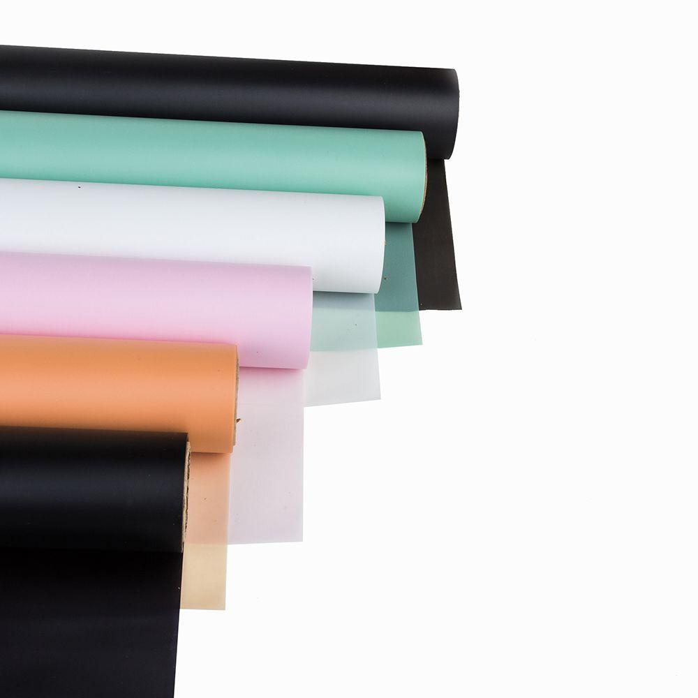 Papel de embrulho de presente 60 cm x 10 m papel de celofane translúcido Papel de embrulho de Flor À Prova D 'Água Florista Filme Floral Embalagem