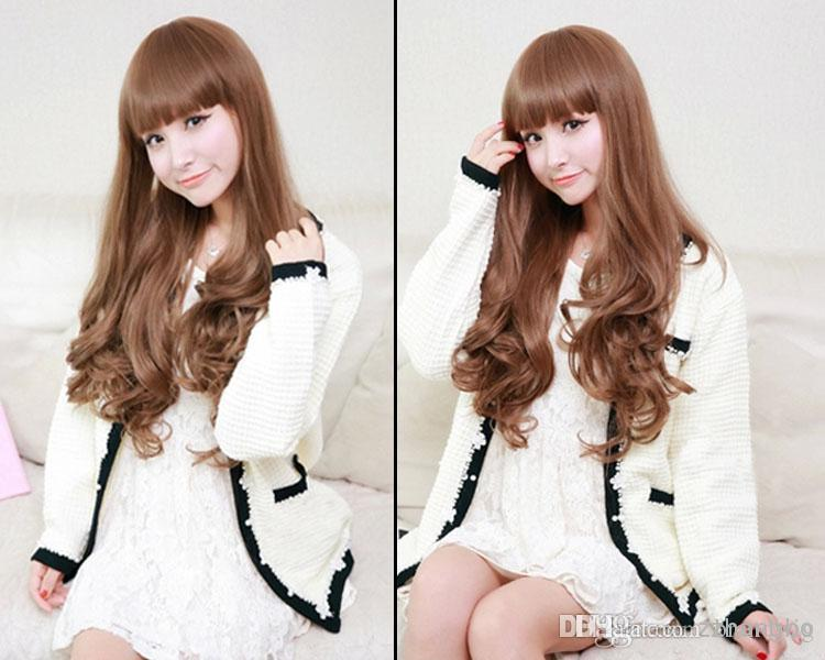 FULL LACE WIGS Beautiful Fashion Wigs India Virgin Human Hair 100% Full Lace Wigs Silk Seamless Density 150% Wave Of Hair Color Linen Kabell