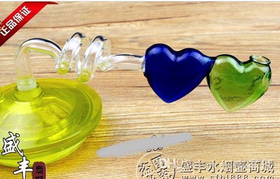 Accessori di narghilé all'ingrosso di trasporto libero - Accessori narghilè [pentola a doppia elica cuore], consegna casuale a colori, molto meglio