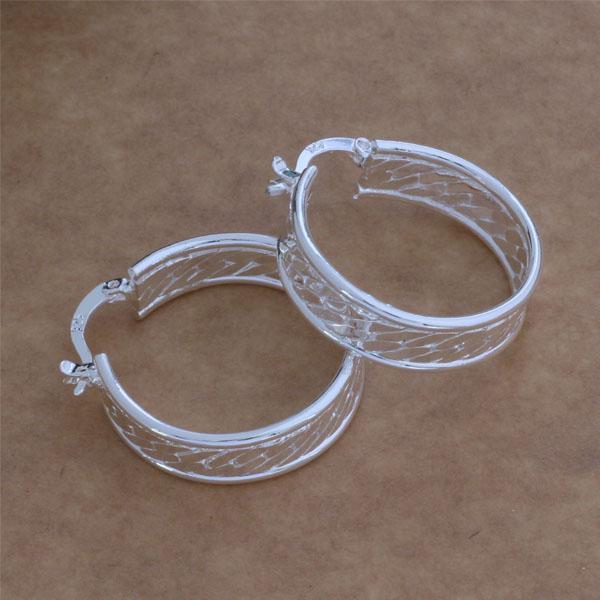 Мода (производитель ювелирных изделий) 20 шт. много шаблон круг серьги стерлингового серебра 925 ювелирные изделия заводская цена мода