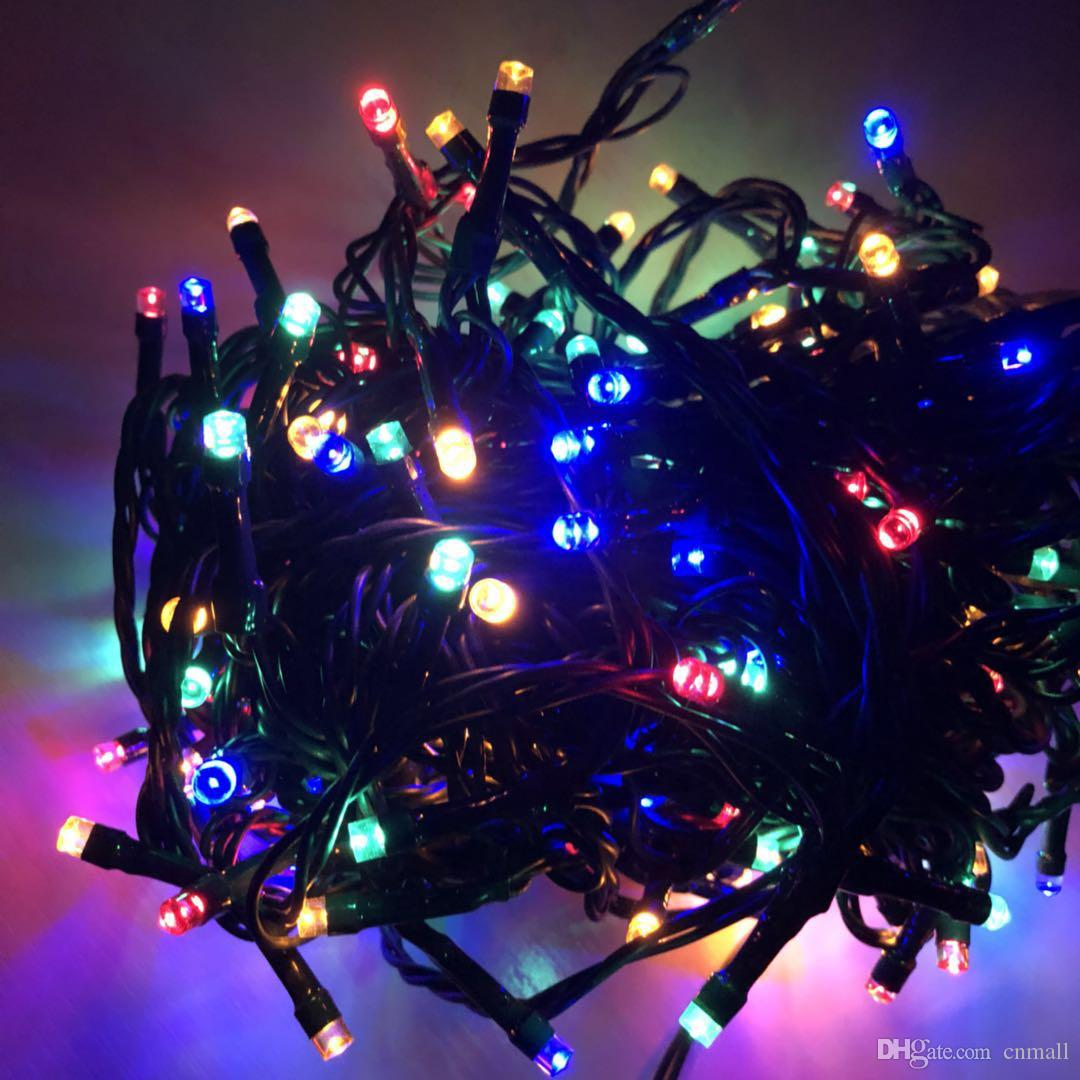 Rgb Led Christmas Lights.20m 200 Led Rgb Led Fairy String Lights With 8 Lighting Modes Battery Operated Waterproof Led String For Christmas Garden Party Decoration White Led