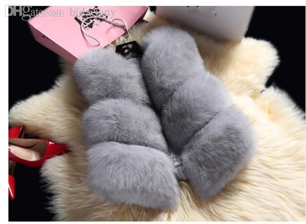 Groothandel-Koreaanse mode herfst winter nieuw product 2015 vrouwen vest mouwloze solide mode allemaal match bont vest vrouwen jas jas