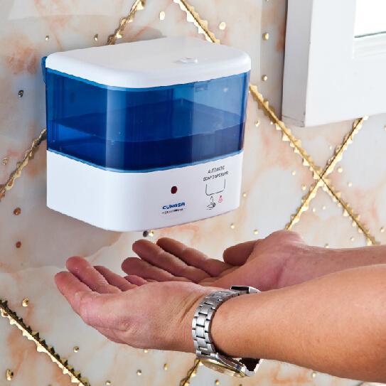 Dispensador de jabón por inducción Lavadora de manos automática del hotel Baño Manos libres Automático Sensor de pared Dispensador de jabón A-LC015