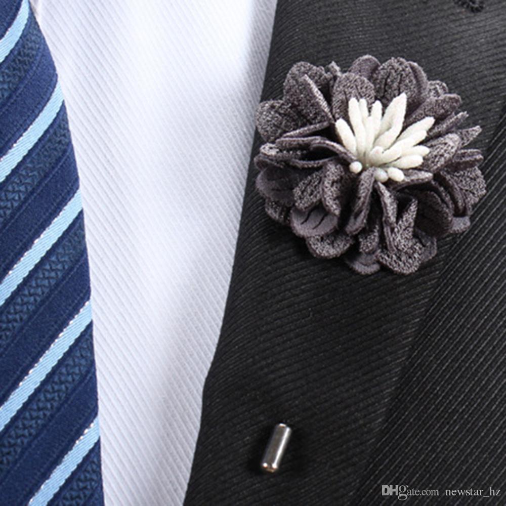 Men/'s Handmade Sun Flower Lapel Stick Brooch Pin Suit Tuxedo Corsage Boutonniere