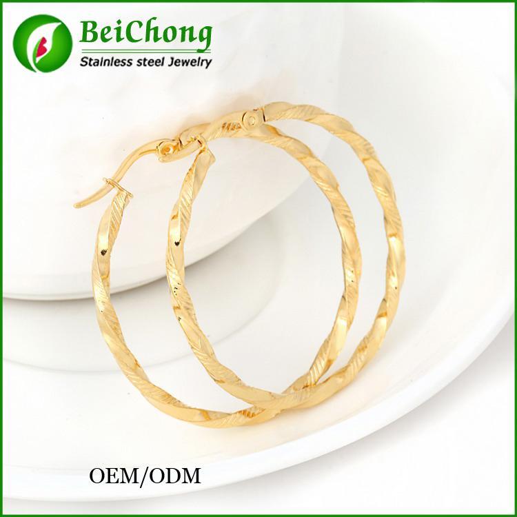 (10PCS) قبل الميلاد مجوهرات أنيقة النيكل الحرة الفولاذ المقاوم للصدأ أقراط حلقة أقراط المشاهير العلامة التجارية أقراط للنساء مجوهرات للنساء BC-094