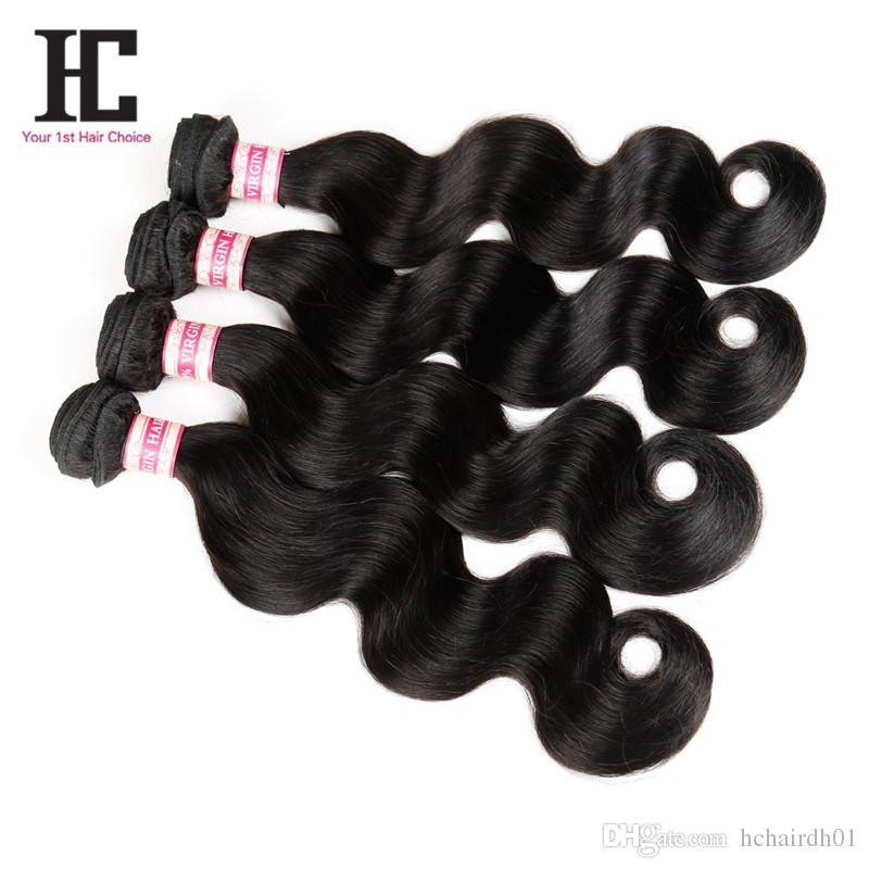 자연 색 7a 페루 처녀 머리 몸 파도 처녀 머리 페루 신체 파도 4 번들 100 % 처리되지 않은 인간의 머리카락 확장 HC 머리카락