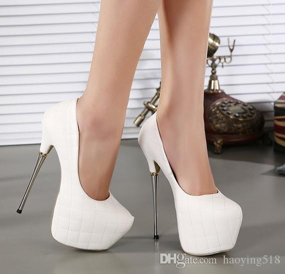Womens High Heels Shoes 2015 White Pumps Women Party Shoes