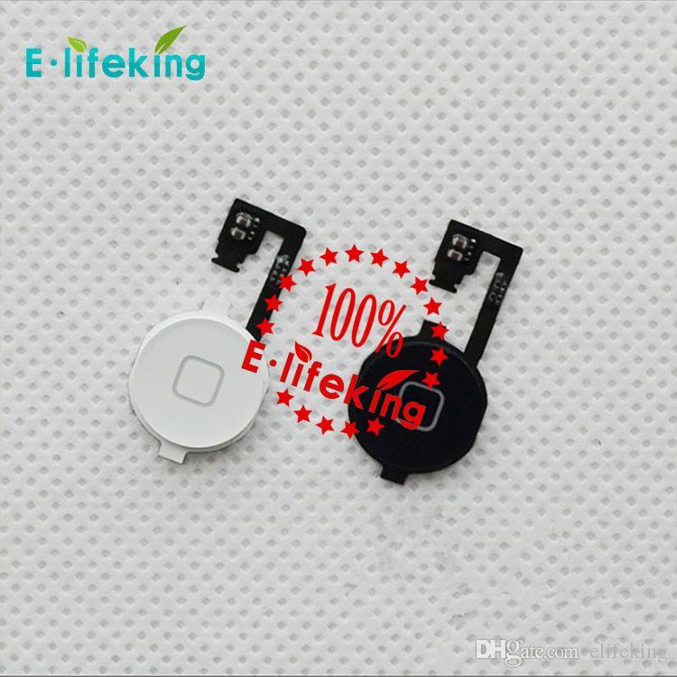 İPhone 4 iPhone 4 S için Ev Düğmesi Flex Kablo Dönüş Anahtar Şerit Kablo Parçaları Değiştirme Ücretsiz Kargo ile