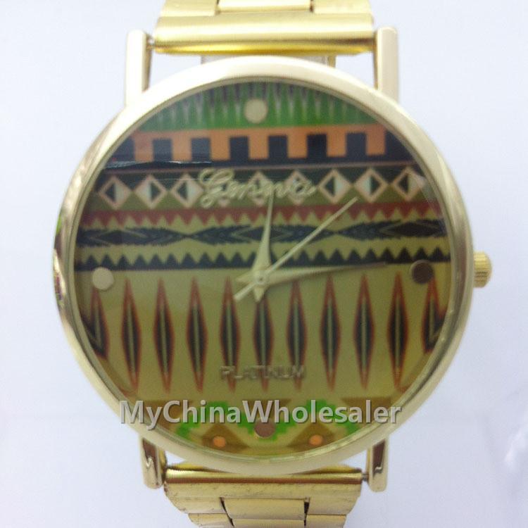 스테인리스 손목 시계 클린 볼트 패션 골드 석영 빈티지 중국어 국립 세관 디자인 레이디 여성 명품 손목 시계