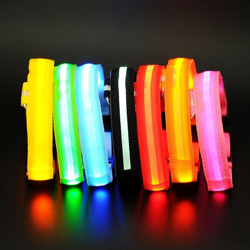 LED Pet Dog Collar,Night Safety Flashing Glow In The Dark Dog Leash,Dogs Luminous Fluorescent Collars Pet Supplies