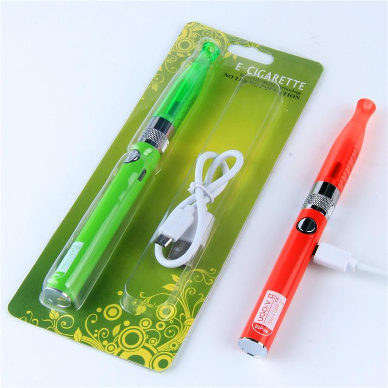Evod 기화기의 USB Passthrouh 우고-V II 물집 키트 전자 담배 펜 vape H2 탱크 eVod 물집 vape 키트 전자 시가