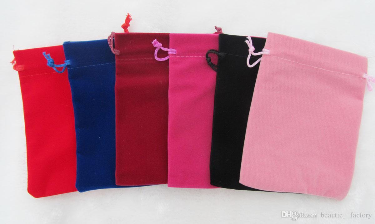 100Pcs Blue Velour Velvet Bag Jewelry Pouch 11 X 15 cm ( 4.3 x 5.9 inch ) Gift Bags