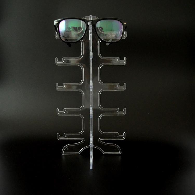 Claro portátil 5 pares gafas de sol que muestran el estante del marco de gafas Gafas Soporte de exhibición Gafas Gafas Display Case Envío gratis