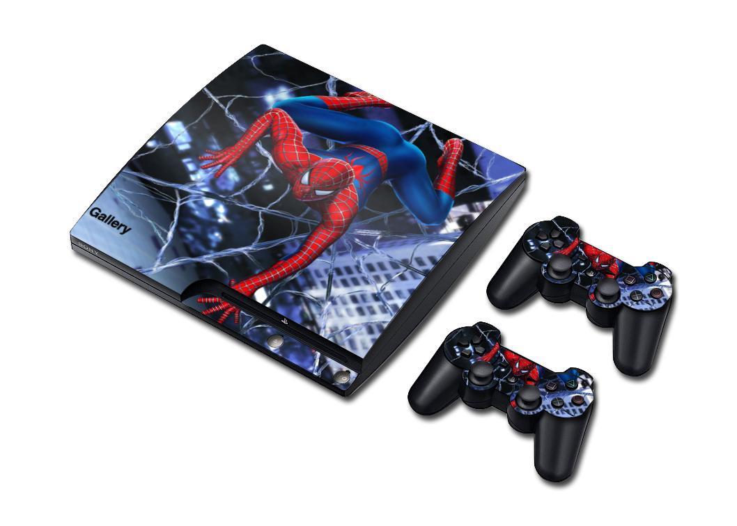 Acheter Cool Vinyle Autocollant Ps3 Slim Peau Autocollant Pour 1 Console 2 Contrôleur Peau Autocollants Très Cool Spiderman De 7 15 Du Yfxu 09 Dhgate Com