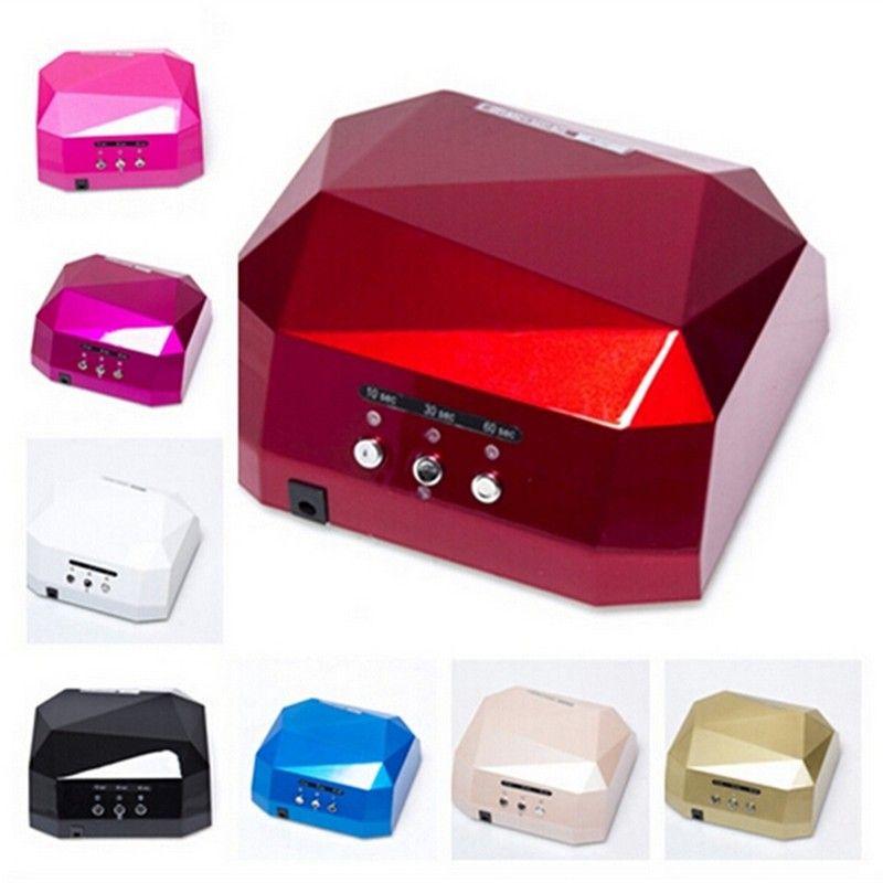 Professional 36W 110V/220V LED Lamp Nail Dryer Diamond Shaped Long Life Fast Dry 24w LED & 12w CCFL Cure For UV nail gel