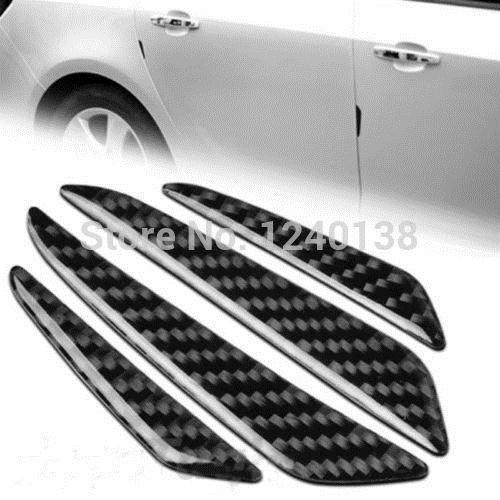 GJ13| 4Pcs Carbon Fiber Style Car Side Door Edge Protection Guards Trim Sticker