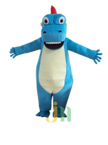 2018 New blue dragon adult size mascot costume suit fancy dress F3