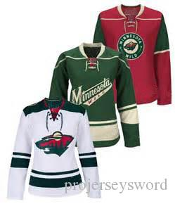 Lady Minnesota Wild Jersey 11 Zach Parise 12 Eric Staal 16 Jason Zucker 22 Nino Niederreiter 9 Mikko Koivu Custom Hockey Jerseys S-2XL