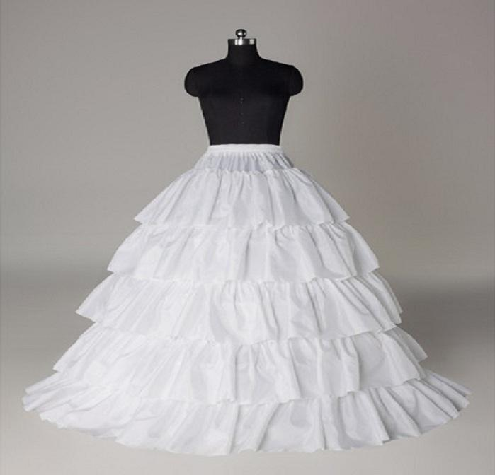 In Stock Four Hoops Five Layers A-Line Cheap Petticoats Bridal Crinoline For Ball Gowns Quinceanera/Wedding/Prom Dresses 2015