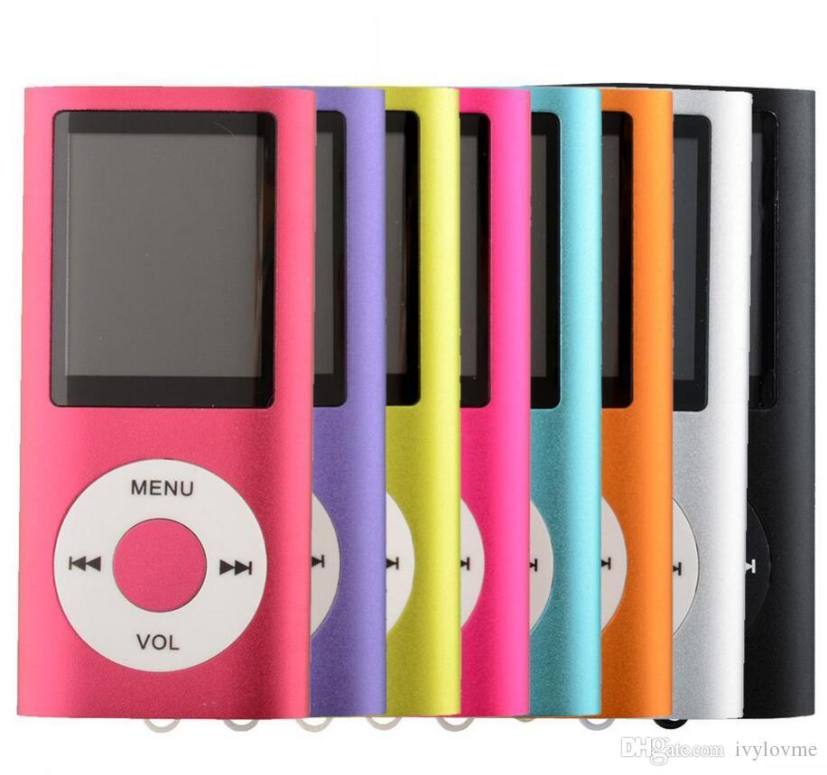 """새로운 제 4 일반 MP3 MP4 플레이어 슬림 4TH 1.8 """"LCD 비디오 라디오 FM 플레이어 지원 4 기가 바이트 8 기가 바이트 16 기가 바이트 32 기가 바이트 마이크로 SD TF 카드 Mp4"""