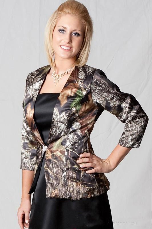 Camo Motheru0027s Wedding Dresses 2015 With Jacket Custom Made Mossy Oak  Pattern Formal Dress Evening Party ...