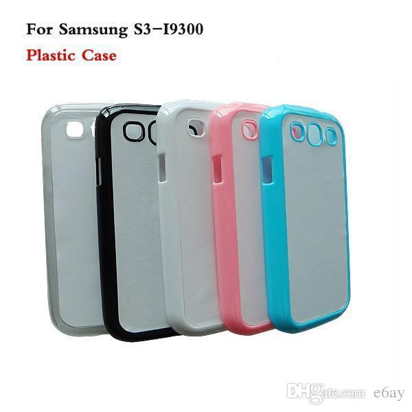 Samsung Galaxy S3 / I9300 DIY 2D Sublimação Heat Press PC Case Capa Com Placas De Metal Em Branco de Alumínio DHL Frete Grátis