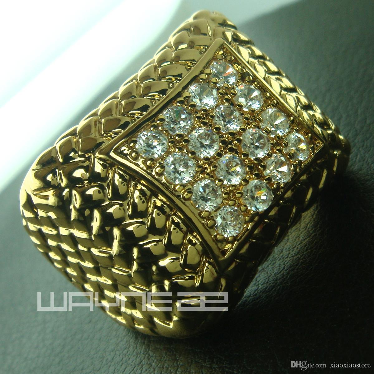 Anello da uomo in oro 18 carati con diamante creato da fidanzamento R105 misura 8-15