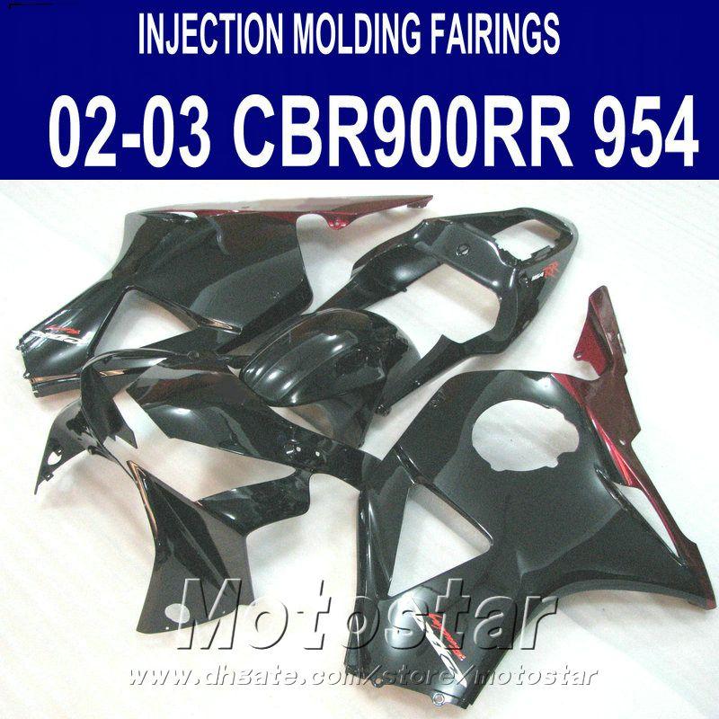 Inyección para Honda cbr900rr carenados 954 2002 2003 rojo negro CBR900 954RR ABS carenado kit CBR954 02 03 YR13