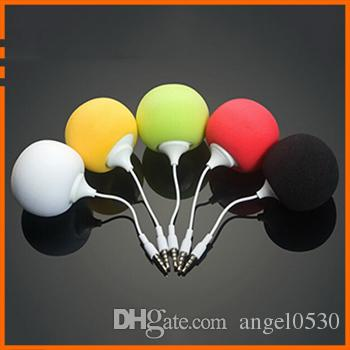 New Fashion Colorful sponge ball mini speakers small stereo speaker phone MP3 laptop portable audio 3.5MM