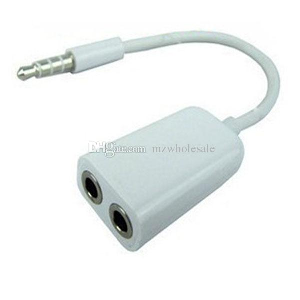 Hot Jack 3.5 mm to Dual 3.5mm Cable male to Female Audio cables Splitter adapter cabo kabel Plug Stereo speaker headphone