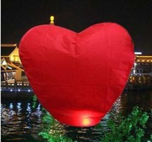 10-Pack: Red Heart Sky Lanterns Chinese Paper Sky ...
