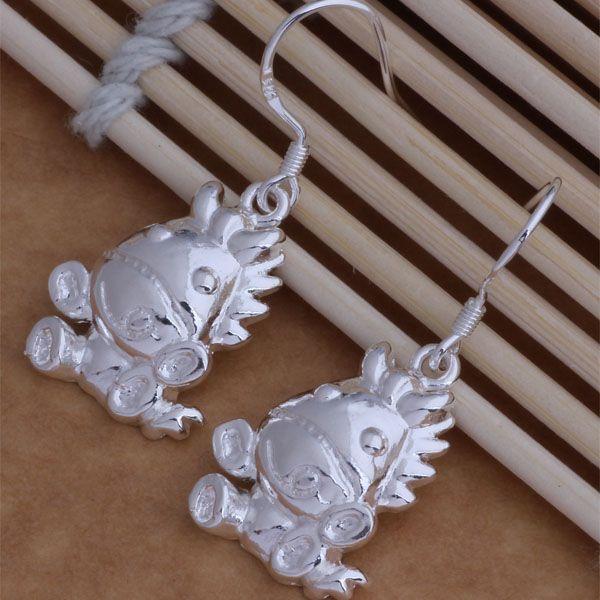 Мода (изготовление ювелирных изделий) 40 шт много лошадь серьги стерлингового серебра 925 заводская цена мода обуви серьги