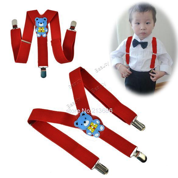 Promotion! Enfants Enfants En Bas Âge de Bande Dessinée Réglable Bretelles Pantalon Y-retour Bretelles Bretelles Ceinture Enfant Bébé Rouge b014 1525