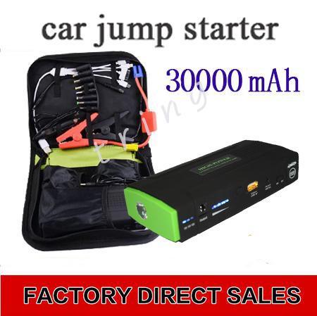 30000mAh 점프 시작 차량용 충전기 배터리 자동차 비상 스타터 전원 공급 장치 휴대용 노트북 스마트 폰 충전기 전원 은행 배터리 팩