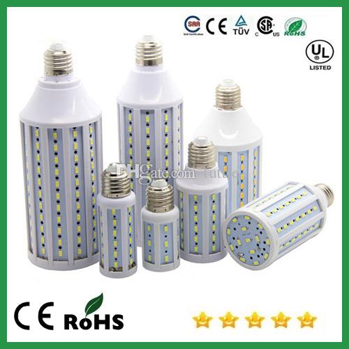 Бесплатная доставка супер яркий B22 E27 E40 светодиодные лампы кукурузы 15 Вт 25 Вт 30 Вт 40 Вт 50 Вт 60 Вт 80 Вт SMD5630 Светодиодные лампы переменного тока 110 В-240 В