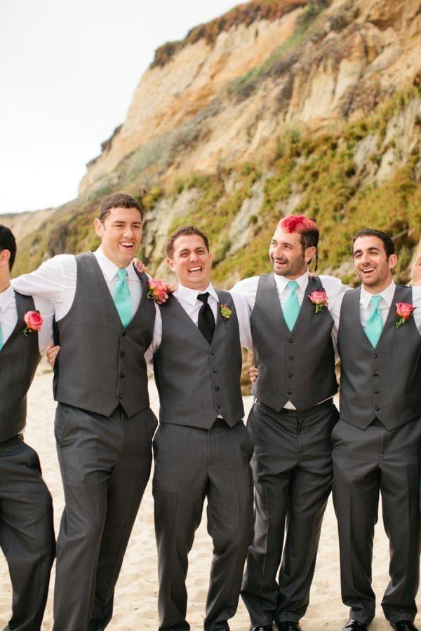 Charcoal Grey Wedding Vest and Pants For Men Slim Fit Mens Wedding Tuxedos Designer Mens Suits (Vest+Pants+Tie)