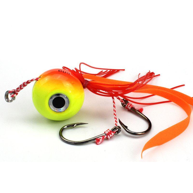 5pcs 80g Orange Jigs Hook Fishing Hooks Fishhooks Metal Baits & Lures Artificial Bait Pesca Fishing Tackle Accessories