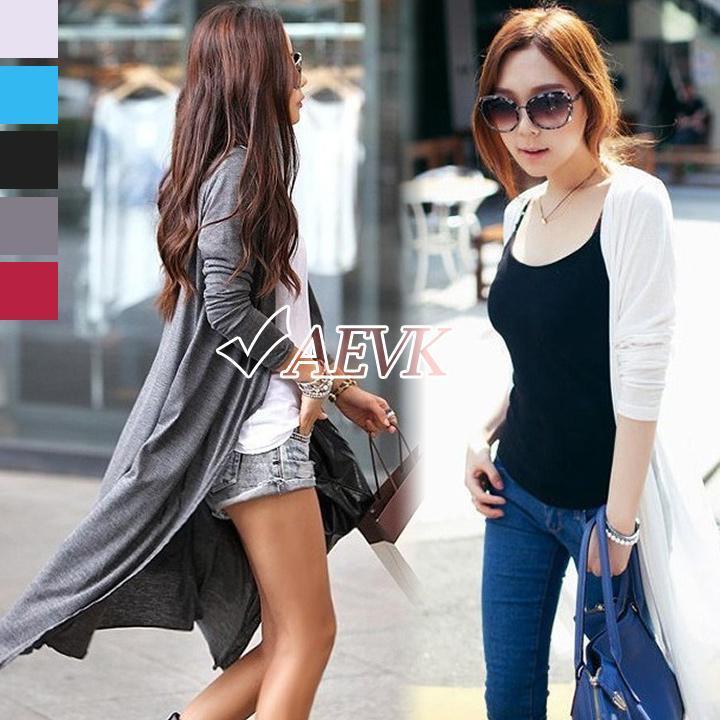 Marca de las mujeres de manga larga Casual Maxi Cardigan Sweater Solid prendas de punto mujer abrigo envío gratis b8 SV005966