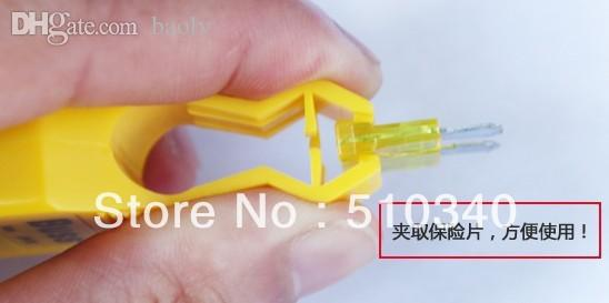 Wholesale-New great auto tool,car fuse tester free shipping fuse clip