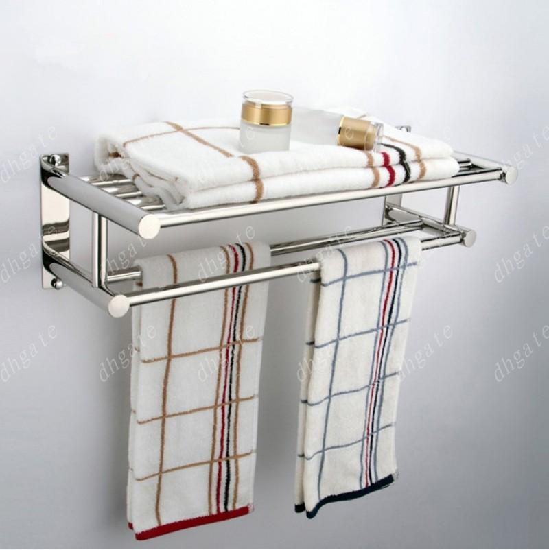 2018 New Details About Double Chrome Wall Mounted Bathroom Towel ...