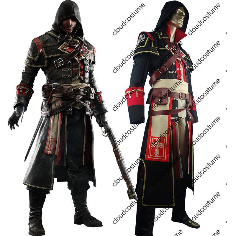 Assassins Creed Rogue Shay Patrick Cormac Cosplay Costume