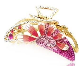 3 color diamond gradien flower lady's hairpin (9.4*5.3cm) (400-cn)