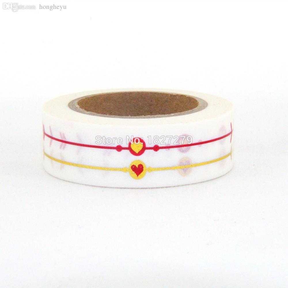 Wholesale-NEW 1X 10m Goldfolie vergoldet Band für Weihnachten Print DIY Deco Maskierung japanischen Washi Tape Papier