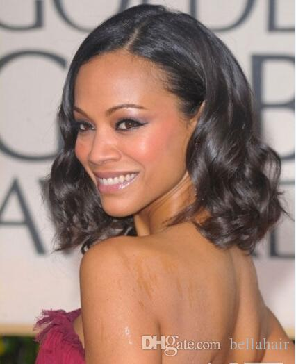 Human Hair Wigs Big Curly 100% Virgin Human Hair Lace Wig Natural Color Lace Front Wigs for Avatar'Zoe Saldana Bellahair