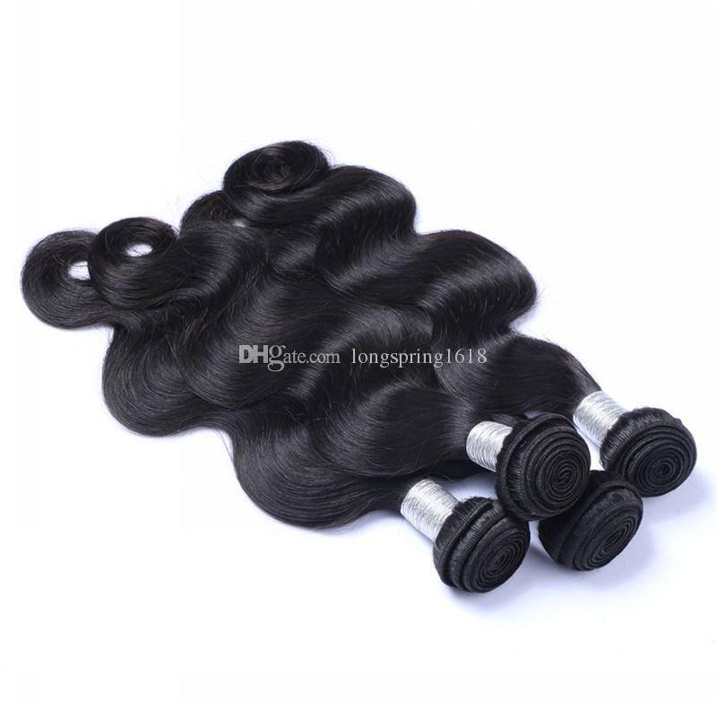 Top Quality Unprocessed Human Hair Bundles Brazilian Peruvian Malaysian Indian Cambodian Virgin Hair Body Wave 3/4 Pieces Human Hair Weaves